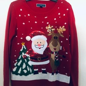 Women's Medium Christmas Santa Sweater
